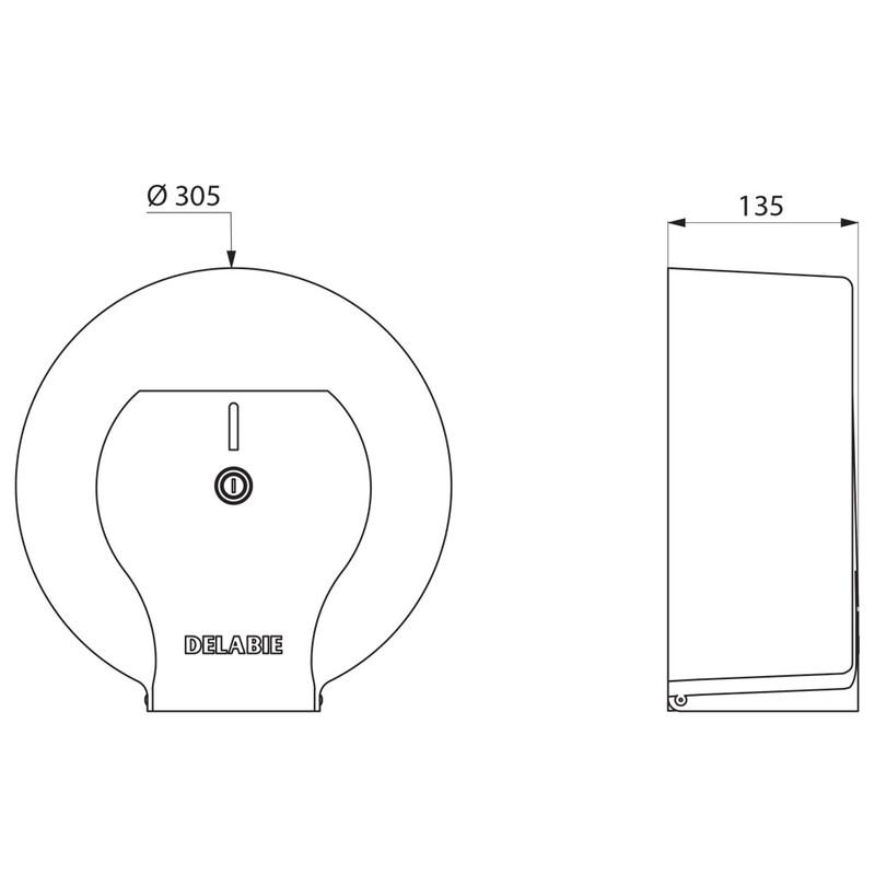 Jumbo toilet paper dispenser –– 400m